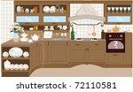 kitchen | Shutterstock .eps vector #72110581