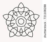simple mandala shape for...   Shutterstock .eps vector #721108288
