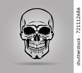 the image of the human skull.... | Shutterstock .eps vector #721112686
