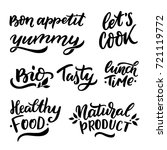 hand drawn lettering set for... | Shutterstock .eps vector #721119772