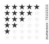 vector image of five star... | Shutterstock .eps vector #721121212