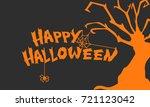 happy halloween background with ...   Shutterstock .eps vector #721123042