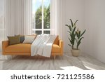 idea of white room with orange... | Shutterstock . vector #721125586