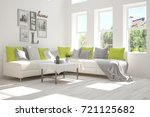idea of white room with sofa... | Shutterstock . vector #721125682