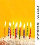 Happy Birthday Cake Shot On A...