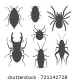 beetle silhouette. isolated... | Shutterstock .eps vector #721142728