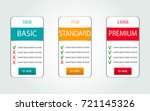 price list  hosting plans and... | Shutterstock .eps vector #721145326