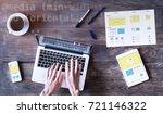 webdesigner sketching... | Shutterstock . vector #721146322