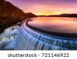 sunrise over croton dam  ny and ...   Shutterstock . vector #721146922