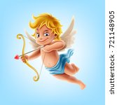 cupid illustration | Shutterstock .eps vector #721148905