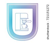 logo badge decorative of coffee ... | Shutterstock .eps vector #721151272