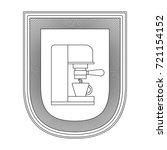 logo badge decorative of coffee ... | Shutterstock .eps vector #721154152