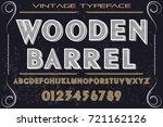 vintage font alphabet...   Shutterstock .eps vector #721162126