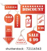 set of red discount tickets.... | Shutterstock .eps vector #72116563