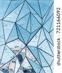 contemporary vertical abstract... | Shutterstock . vector #721166092
