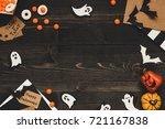 halloween sweets  halloween... | Shutterstock . vector #721167838