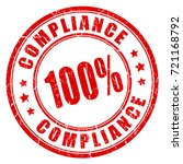 compliance vector eps round... | Shutterstock .eps vector #721168792