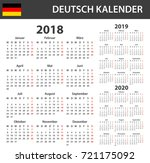 german calendar for 2018  2019... | Shutterstock . vector #721175092