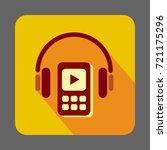 listen music in headset concept ...
