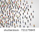 large group of people on white... | Shutterstock .eps vector #721175845