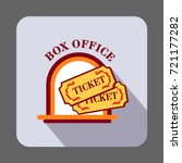 box office ticket concept... | Shutterstock .eps vector #721177282