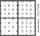 christmas set of vector hand... | Shutterstock .eps vector #721177642