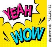 pop art background with prase... | Shutterstock .eps vector #721181452