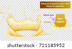 translucent water crown consist ... | Shutterstock .eps vector #721185952