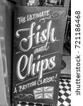 the ultimate fish and chips... | Shutterstock . vector #721186468
