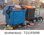dumpsters being full with... | Shutterstock . vector #721193098