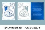 vector illustration postcard.... | Shutterstock .eps vector #721195075