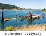 remains of the abandoned... | Shutterstock . vector #721196332