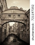 bridge of sighs as the famous... | Shutterstock . vector #721197352