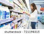 asian beautiful woman buy some... | Shutterstock . vector #721198315