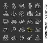kids toys chalk icons set.... | Shutterstock .eps vector #721204312