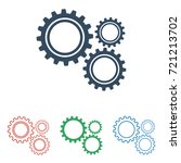 set of gear icons   simple flat ...   Shutterstock .eps vector #721213702