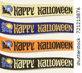 vector set of ribbons for... | Shutterstock .eps vector #721213876
