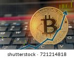 bitcoin rising concept on... | Shutterstock . vector #721214818