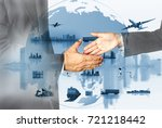 success business of global... | Shutterstock . vector #721218442
