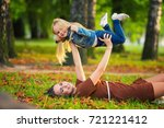 beautiful young mother daughter ...   Shutterstock . vector #721221412