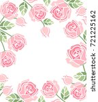 background with pink roses | Shutterstock .eps vector #721225162