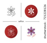 saffron icon. flat design ... | Shutterstock .eps vector #721228126