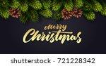 christmas decoration with fir... | Shutterstock .eps vector #721228342