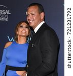 """Small photo of LOS ANGELES - SEP 19: Jennifer Lopez and Alex Rodriguez arrives for the premiere of """"World of Dance"""" Season 2 on September 19, 2017 in West Hollywood, CA"""