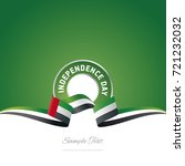 uae independence day ribbon... | Shutterstock .eps vector #721232032