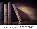 old books on a library or... | Shutterstock . vector #721232785