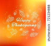 happy thanksgiving day. poster ... | Shutterstock .eps vector #721234888