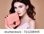 portrait of beautiful pretty... | Shutterstock . vector #721238545