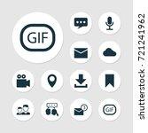 Social Icons Set. Collection O...