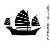 hong kong ship icon | Shutterstock .eps vector #721242268